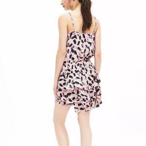 Pink/Peach Banana Republic tiered dress